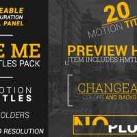 VIDEOHIVE TYPE ME | MOTION TITLES PACK FREE DOWNLOAD