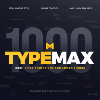 Videohive – TypeMax | Title Animation and Lower Thirds – 19429492