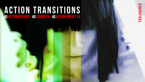 Action Transitions Pack - After Effects Presets - Free download