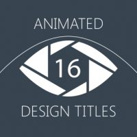 VIDEOHIVE 16 ANIMATED DESIGN TITLES FREE DOWNLOAD