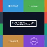 VIDEOHIVE FLAT MINIMAL TITLES FREE DOWNLOAD