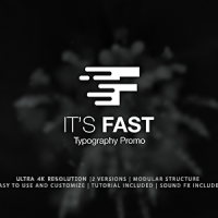 VIDEOHIVE IT'S FAST – TYPOGRAPHY PROMO FREE DOWNLOAD