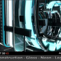 VIDEOHIVE CONSTRUCTION GLASS NEON LOGO FREE DOWNLOAD