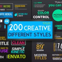 VIDEOHIVE TITLES DIFFERENT STYLES FREE DOWNLOAD