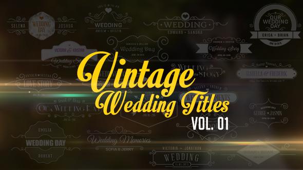 Videohive - Vintage Wedding Titles vol  01 10979823 - Free