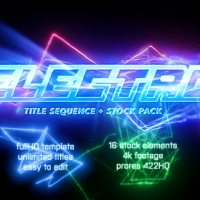 VIDEOHIVE ELECTRO – ELECTRIC TITLE SEQUENCE + 16 LIGHTING ELEMENTS