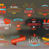 VIDEOHIVE HAPPY VALENTINE'S DAY BADGES PACK FREE DOWNLOAD