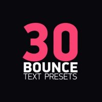 30 Bounce Text Presets After Effects Templates