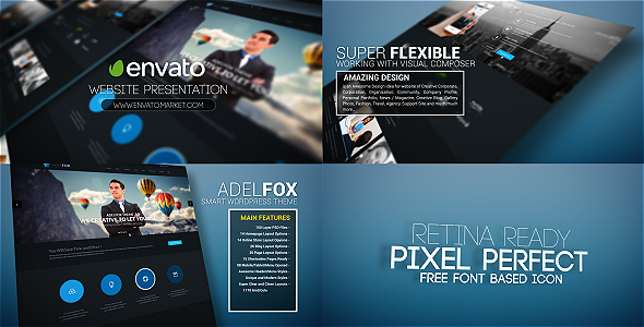 VIDEOHIVE WEBSITE PROMO PRESENTATION FREE DOWNLOAD - Free After