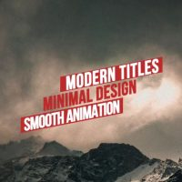 Modern Minimal Titles After Effects Templates