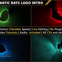 VIDEOHIVE SHORT CINEMATIC LIGHT RAYS LOGO INTRO