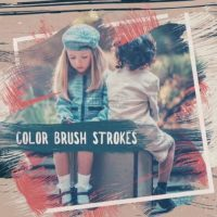 Color Brush Strokes Slideshow – After Effects