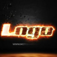 Saber Fire Logo – After Effects
