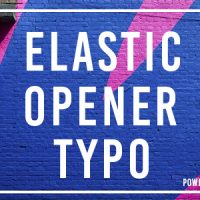 Videohive – Elastic Opener Typography 19598966 – Free Download