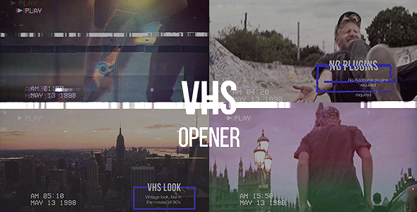 VIDEOHIVE VHS OPENER // MODERN GLITCH SLIDESHOW - Free After