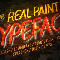 VIDEOHIVE REAL PAINT TYPEFACE KIT FREE DOWNLOAD