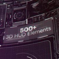 VIDEOHIVE 500+ 3D HUD ELEMENTS