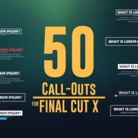 VIDEOHIVE 50 CALL-OUTS PACK – APPLE MOTION TEMPLATES