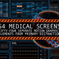 VIDEOHIVE 54 MEDICAL SCREENS – MOTION GRAPHIC