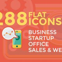 VIDEOHIVE BUSINESS & STARTUP FLAT ICONS