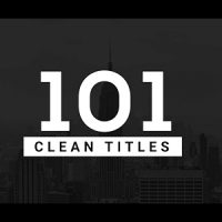 VIDEOHIVE 101 CLEAN TITLES PACK