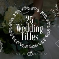 VIDEOHIVE WEDDING TITLES 19761639