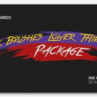 VIDEOHIVE INK BRUSHES LOWER THIRDS PACKAGE