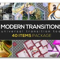 VIDEOHIVE MODERN TRANSITION PACK | 40 ITEMS