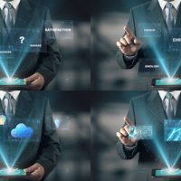 VIDEOHIVE HOLOGRAM BUSINESSMAN SCREENS
