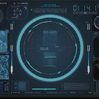 VIDEOHIVE HUD VIRTUAL RADAR HOLOGRAM INTERFACE SYSTEM COCKPIT – MOTION GRAPHIC