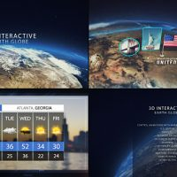 VIDEOHIVE 3D INTERACTIVE EARTH GLOBE