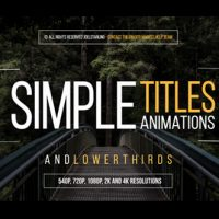 VIDEOHIVE 30 SIMPLE TITLES FREE DOWNLOAD