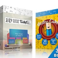 VIDEOHIVE 3D POP-UP BOOK TOOLKIT FEATURING MISTER CAKE | TOOLKIT & STORY CONSTRUCTION SET