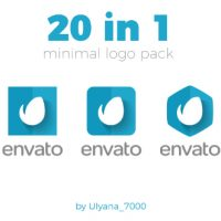 VIDEOHIVE MINIMAL LOGO PACK (20 IN 1)