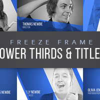 VIDEOHIVE FREEZE FRAME LOWER THIRDS