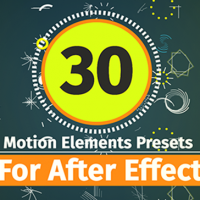 VIDEOHIVE 30 MOTION ELEMENT PRESETS PACK FREE DOWNLOAD
