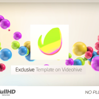 VIDEOHIVE COLORFUL 3D BALLS // KIDS LOGO