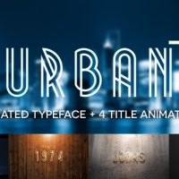 VIDEOHIVE URBAN PLUS – ANIMATED TYPEFACE AND TITLE PACK