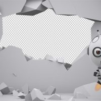 VIDEOHIVE ROBOT SS2 – WALL DESTRUCTION – MOTION GRAPHIC
