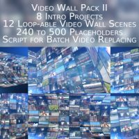 VIDEOHIVE VIDEO WALL PACK II AFTER EFFECTS TEMPLATE