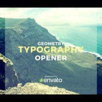 VIDEOHIVE GEOMETRY TYPOGRAPHY OPENER