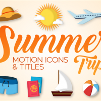 VIDEOHIVE SUMMER TRIP – MOTION ICONS & TITLES