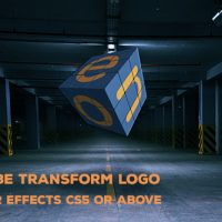 Rubik Cube Transform Logo Free VIP Template