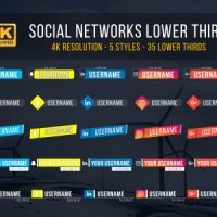 VIDEOHIVE SOCIAL LOWER THIRDS 20442744