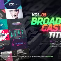 TypeX – Text Animation Tool | VOL.05: Broadcast Titles Pack