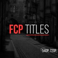 Videohive FCP Titles 15380282 Free Download