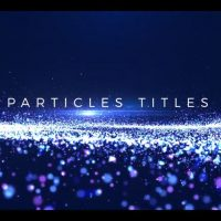 Particles Titles After Effects Motion Array