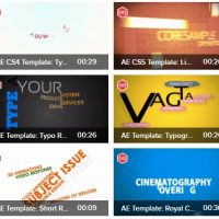Videoblocks Typography Template Crazy Bundle