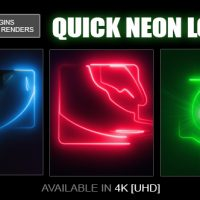 VIDEOHIVE QUICK NEON LOGO FREE DOWNLOAD