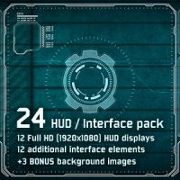 VIDEOHIVE 24 HI-TECH HUD / INTERFACE PACK – MOTION GRAPHICS